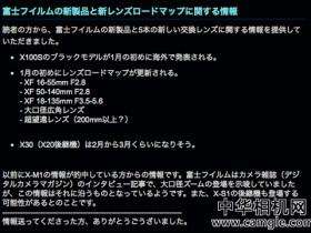 富士2014新品线路图曝光 推五支重量级镜头
