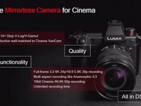 松下将于8月27日正式发布LUMIX S1H相机