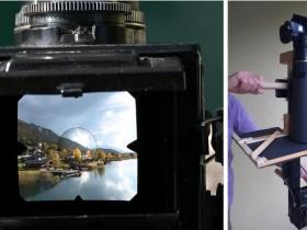 DIY相机架,用来拍摄双反相机取景器中的视频