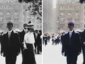 利用AI技术将一部有109年历史的纽约城短片变成4K 60fps画质!