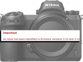 尼康Z6、Z7相机升级固件存在问题