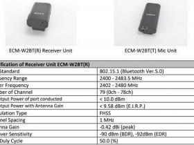 索尼将于3月9日发布ECM-W2BT无线麦克风