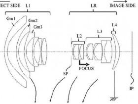 佳能申请四款超广角变焦镜头专利