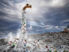 一个巨大的水龙头正在泄露垃圾!