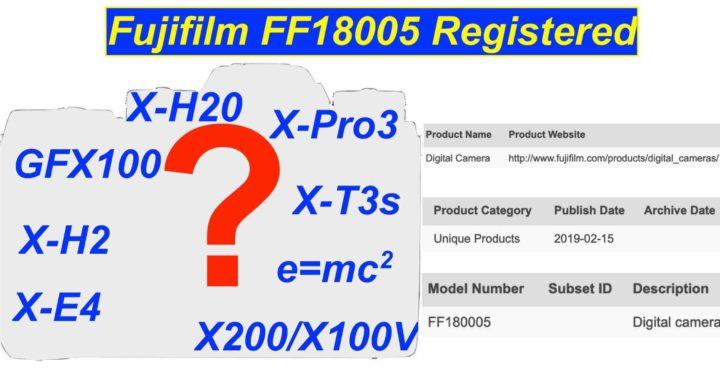 """富士注册代号为""""FF180005""""的新机"""