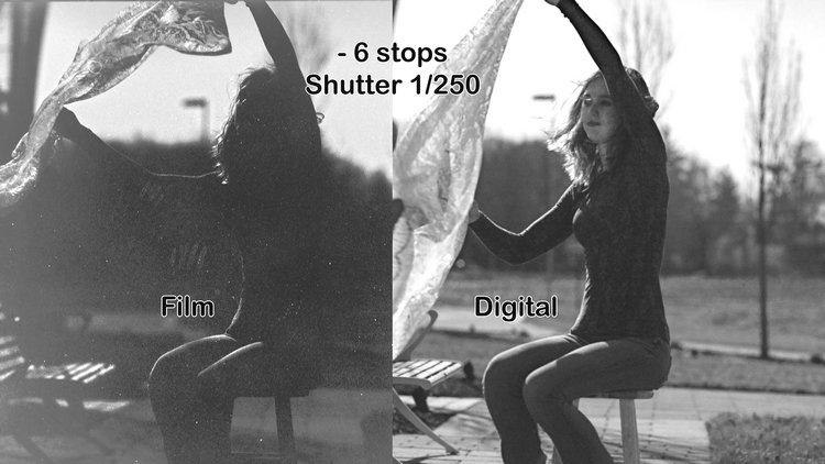 数码vs胶片动态范围对比