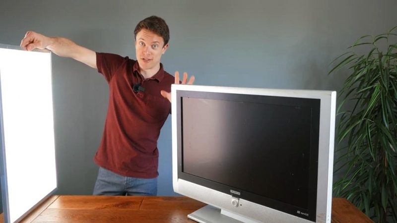 旧电视循环再用,DIY改装做LED补光灯