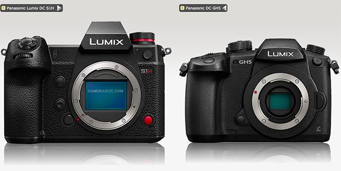 松下LUMIX S1H与GH5机身尺寸比较