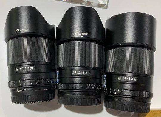国产爵影推出Viltrox 23mm、33mm和56mm三款无反镜头