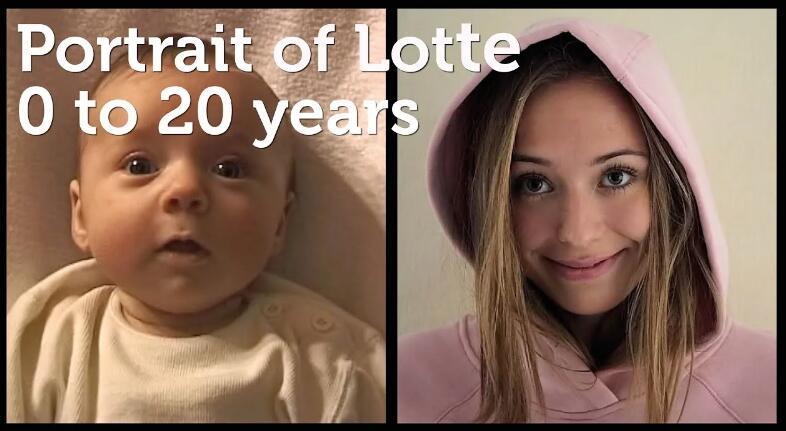这位父亲制作了展示女儿从出生到20岁的人像照片缩时短片.......