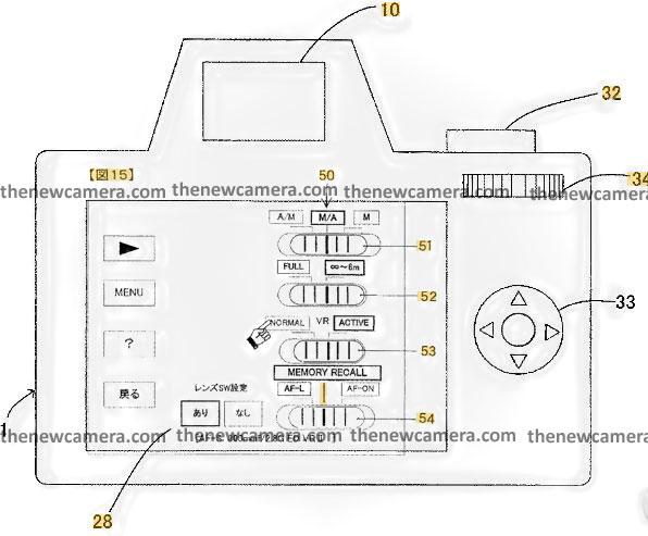 尼康研发在单反或无反相机上增加专用镜头菜单专利