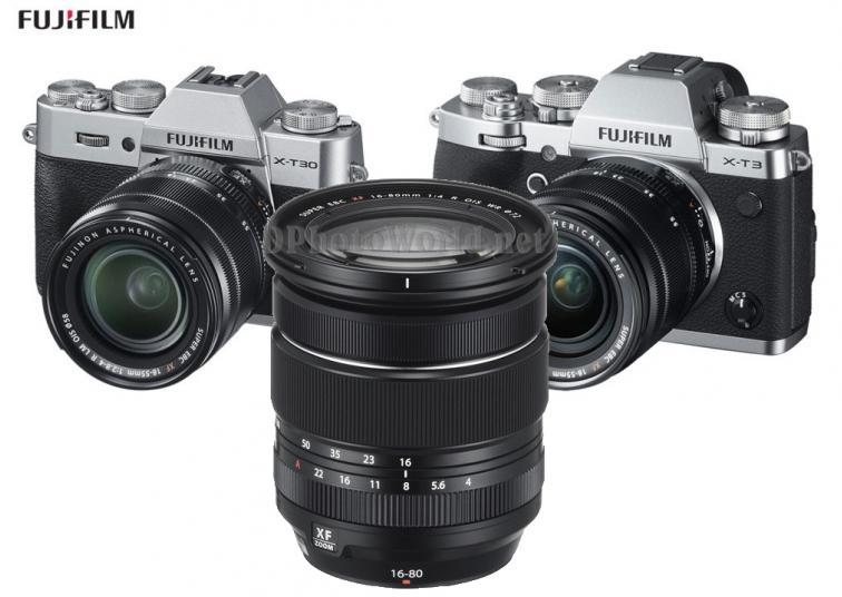 富士发布X-T3、X-T30相机和XF 16-80mm F4 R OIS WR镜头升级固件