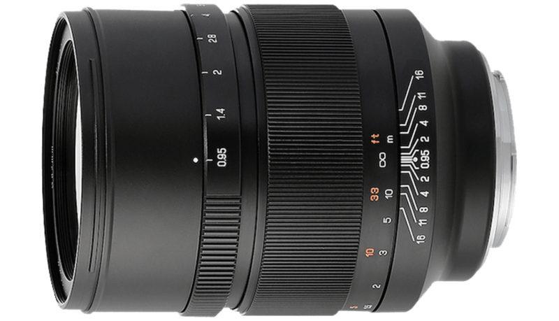中一光学正式发布Mitakon Speedmaster 50mm F0.95单反镜头