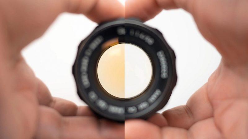 如何处理老式镜头所出现的镜片泛黄现象?