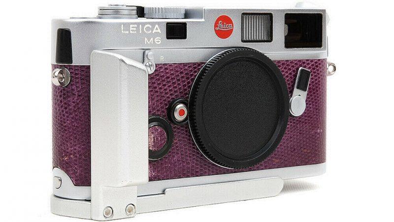 """罕见且精美的徕卡M6""""葡萄紫""""相机"""