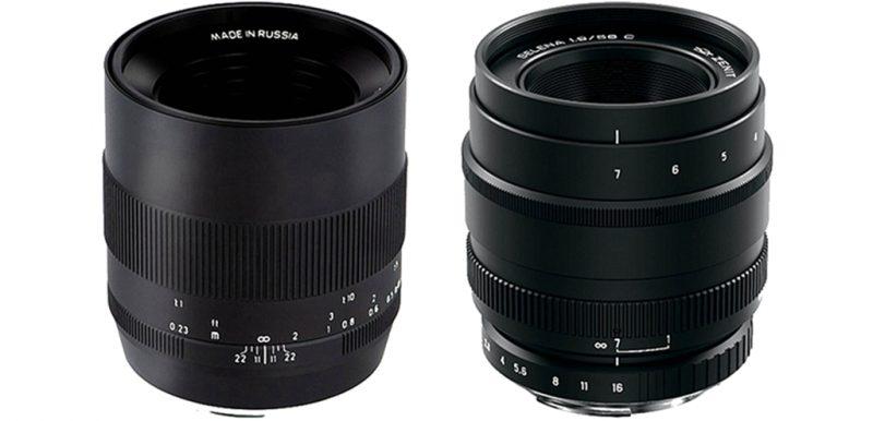 泽尼特正式发布60mm F2.8、58mm F1.9镜头