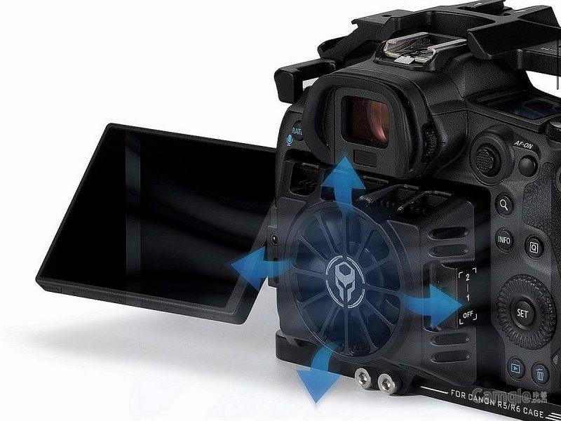 铁头发布佳能EOS R5、R6相机冷却附件